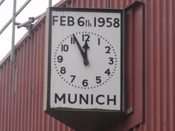 Munich Memorial Clock, Old Trafford