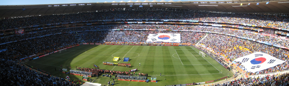Soccer City in Johannesburg