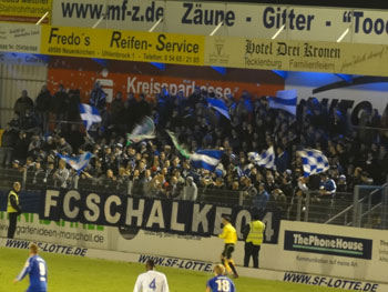 Schalke-Fans in Lotte