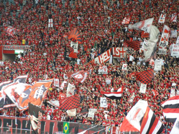 Fans der Urawa Red Diamonds